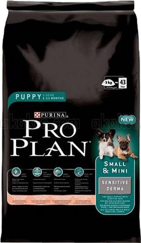pro plan puppy sensitive somonlu 3 kg küçük irk hassas yavru köpek maması yorumları
