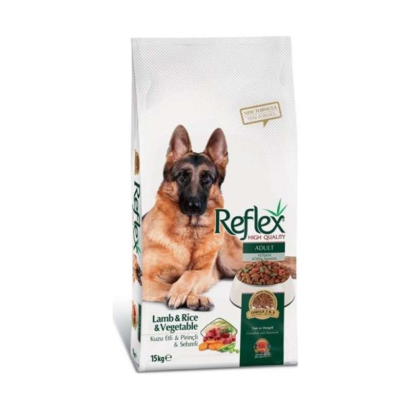 reflex adult dog kuzu etli & pirinçli & sebzeli yetişkin köpek maması 15 kg yorumları