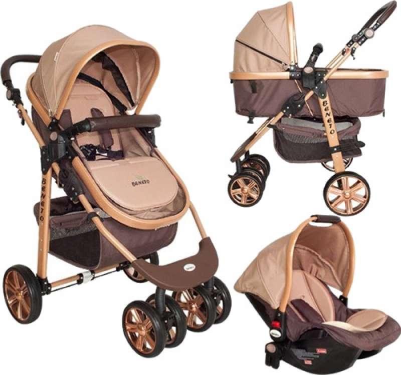 beneto bt-540t gold line trio travel sistem kahverengi bebek arabası yorumları
