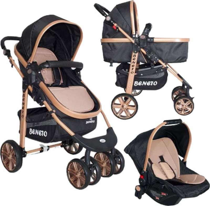 beneto bt-540t gold line trio travel sistem siyah bebek arabası yorumları