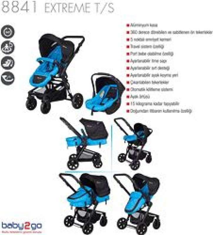 baby2go 8841 extreme travel sistem bebek arabası yorumları